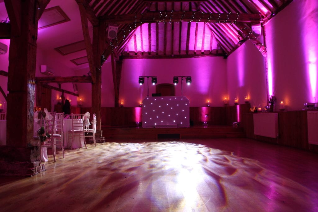 Venue mood lighting iain baker wedding dj simply pick your colour and ill do the rest mood lighting is also a great way of highlighting your chosen wedding day colour scheme solutioingenieria Images